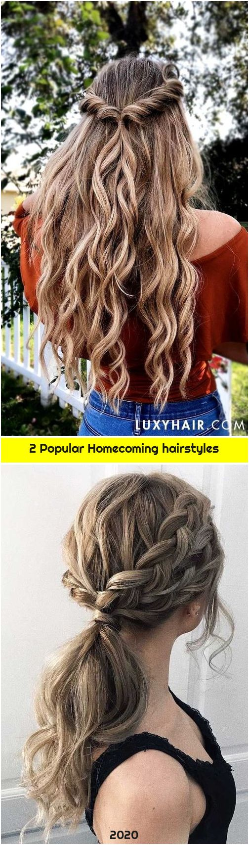 2 Popular Homecoming hairstyles