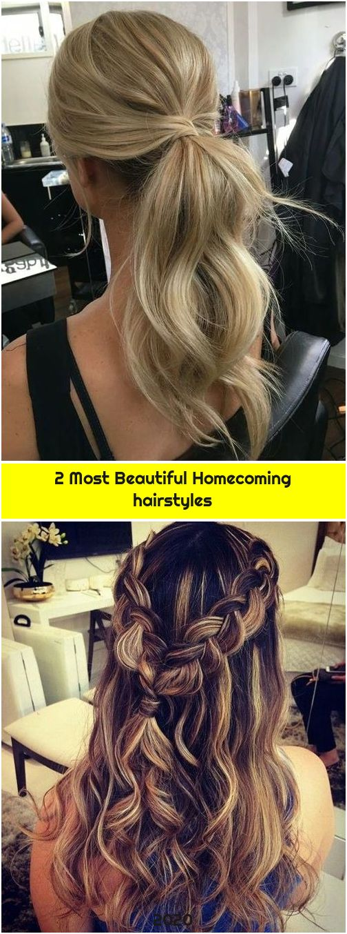 2 Most Beautiful Homecoming hairstyles