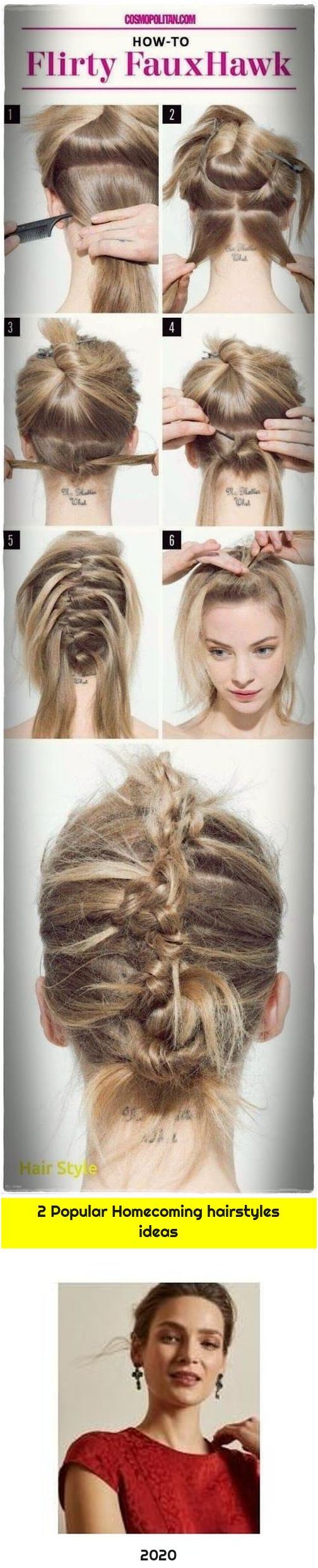2 Popular Homecoming hairstyles ideas