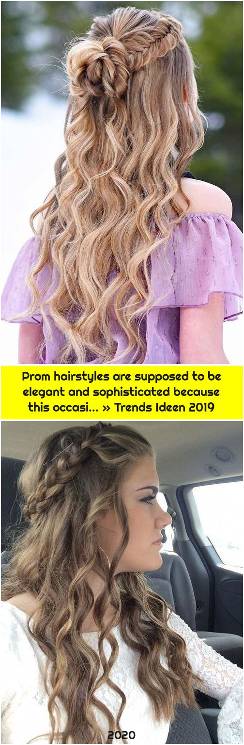 Prom hairstyles are supposed to be elegant and sophisticated because this occasi... » Trends Ideen 2019