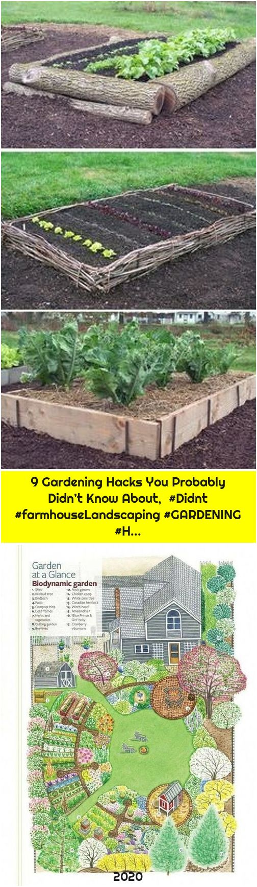 9 Gardening Hacks You Probably Didn't Know About, #Didnt #farmhouseLandscaping #GARDENING #H...