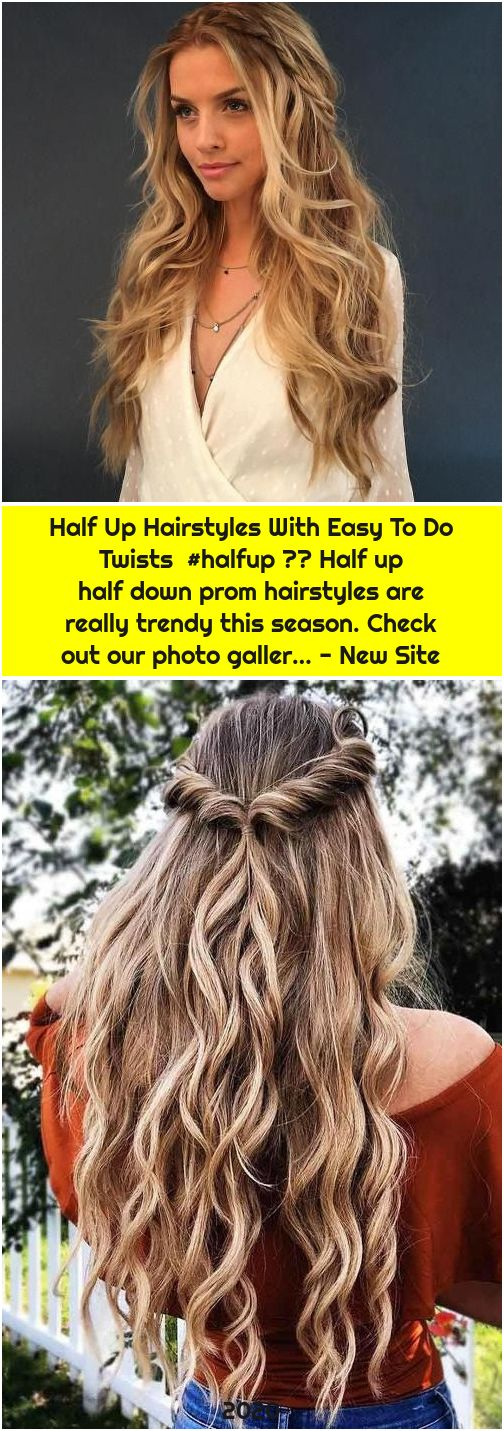 Half Up Hairstyles With Easy To Do Twists  #halfup ❤️ Half up half down prom hairstyles are really trendy this season. Check out our photo galler… - New Site