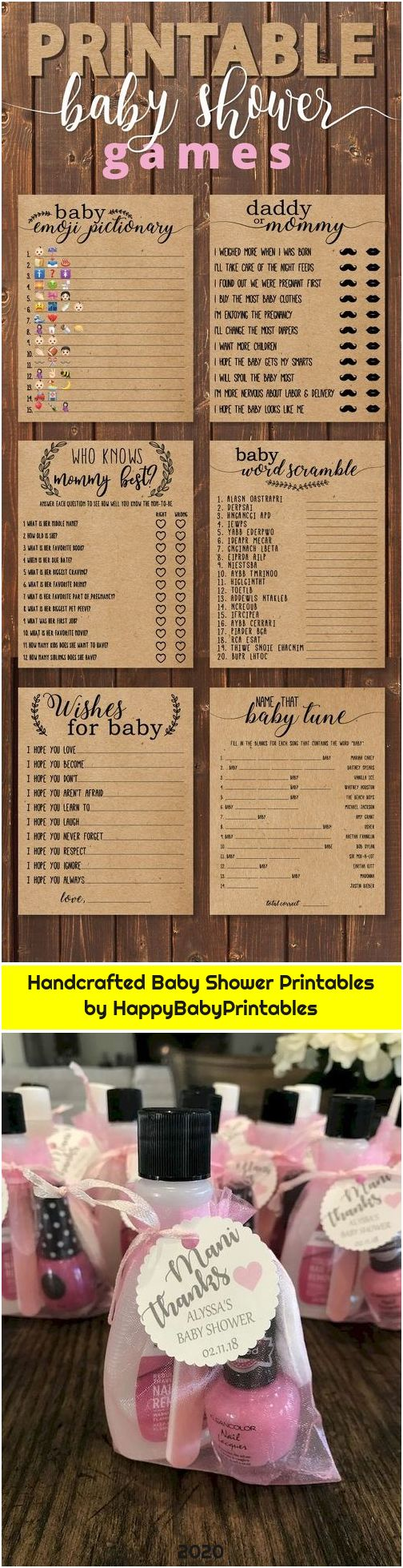 Handcrafted Baby Shower Printables by HappyBabyPrintables