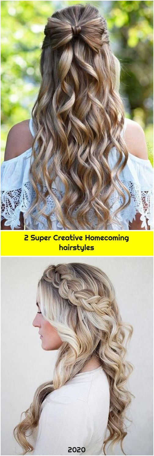 2 Super Creative Homecoming hairstyles