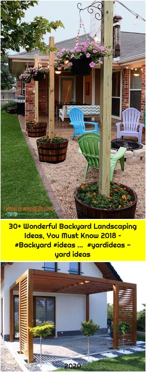 30+ Wonderful Backyard Landscaping Ideas, You Must Know 2018 – #Backyard #ideas … #yardideas - yard ideas