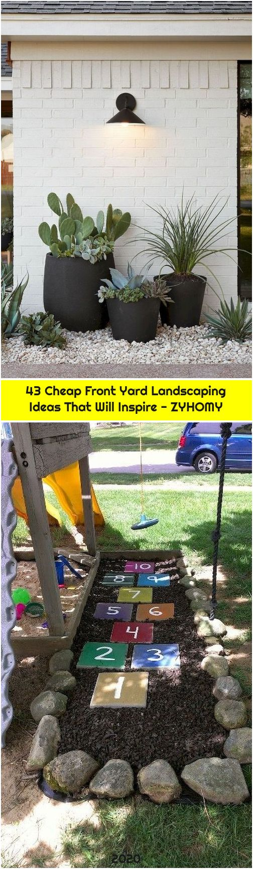 43 Cheap Front Yard Landscaping Ideas That Will Inspire - ZYHOMY