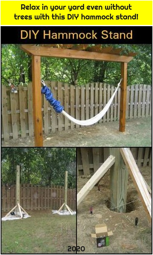 Relax in your yard even without trees with this DIY hammock stand!