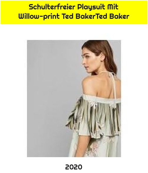 Schulterfreier Playsuit Mit Willow-print Ted BakerTed Baker