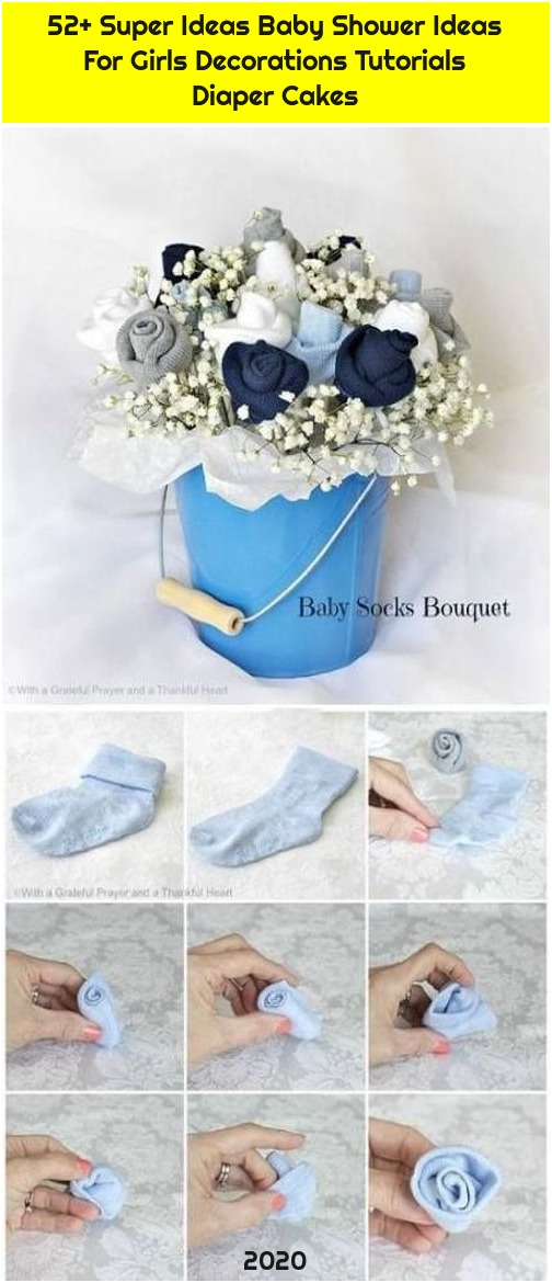 52+ Super Ideas Baby Shower Ideas For Girls Decorations Tutorials Diaper Cakes