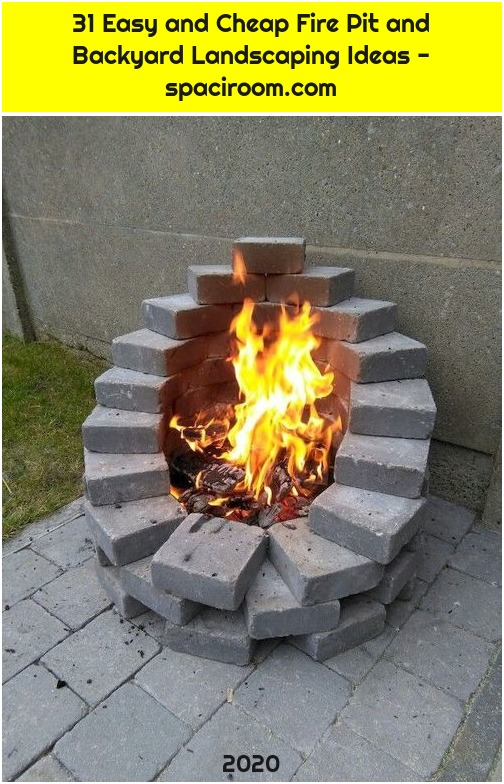 31 Easy and Cheap Fire Pit and Backyard Landscaping Ideas - spaciroom.com