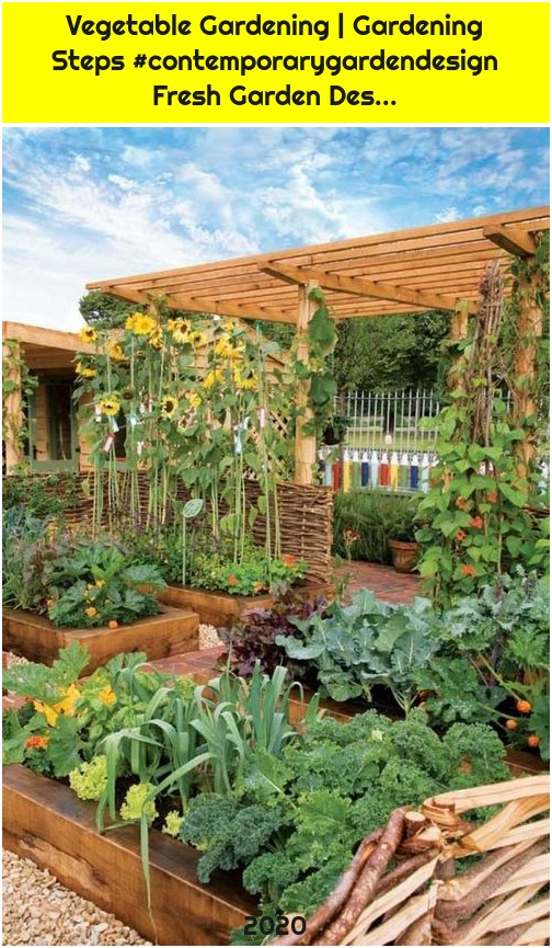Vegetable Gardening | Gardening Steps #contemporarygardendesign Fresh Garden Des...
