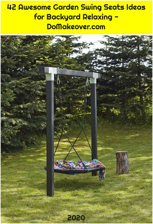 42 Awesome Garden Swing Seats Ideas for Backyard Relaxing - DoMakeover.com
