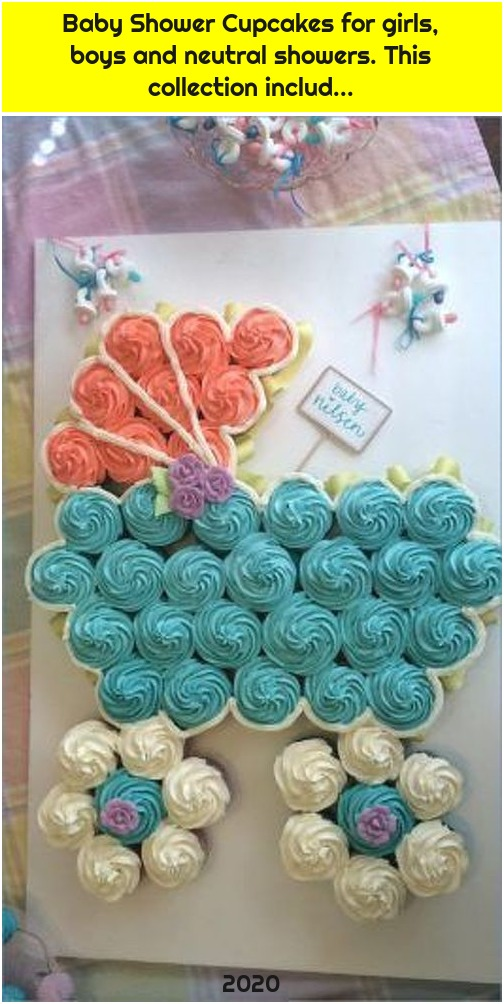 Baby Shower Cupcakes for girls, boys and neutral showers. This collection includ...
