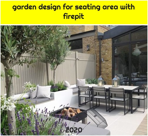 garden design for seating area with firepit
