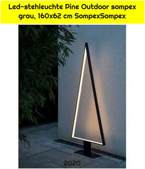 Led-stehleuchte Pine Outdoor sompex grau, 160x62 cm SompexSompex