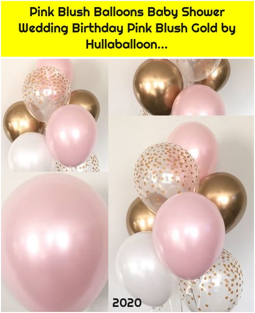 Pink Blush Balloons Baby Shower Wedding Birthday Pink Blush Gold by Hullaballoon...
