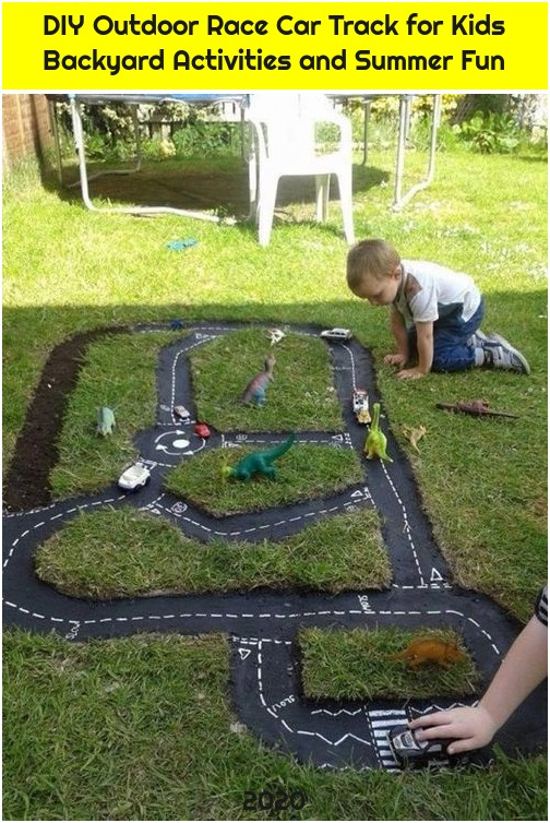 DIY Outdoor Race Car Track for Kids Backyard Activities and Summer Fun