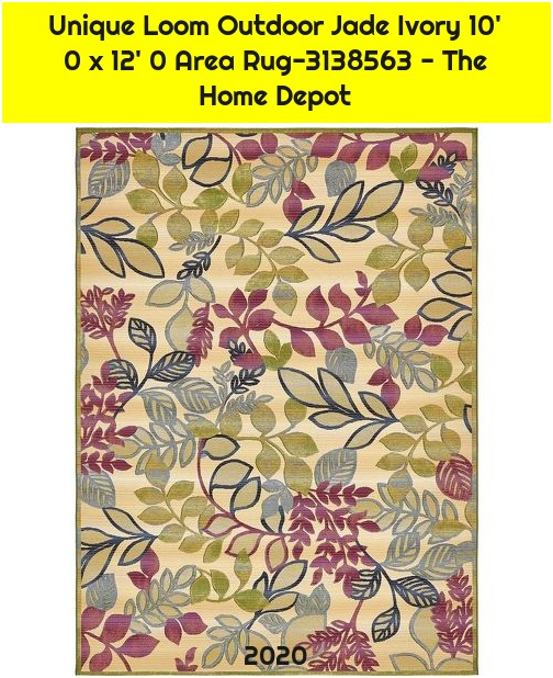 Unique Loom Outdoor Jade Ivory 10' 0 x 12' 0 Area Rug-3138563 - The Home Depot