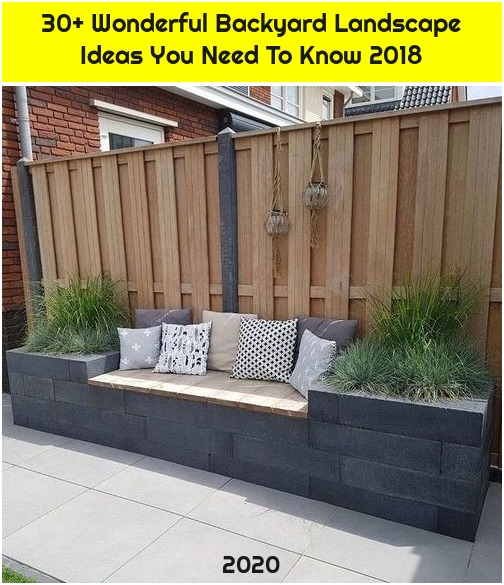 30+ Wonderful Backyard Landscape Ideas You Need To Know 2018