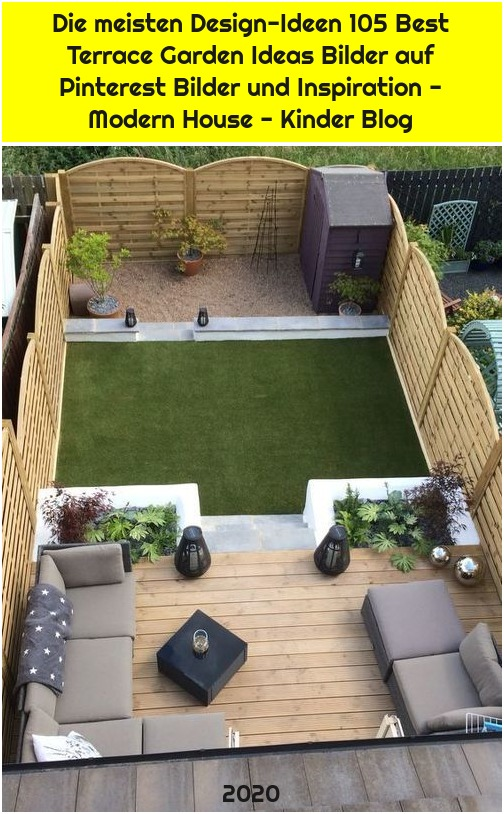Die meisten Design-Ideen 105 Best Terrace Garden Ideas Bilder auf Pinterest Bilder und Inspiration - Modern House - Kinder Blog