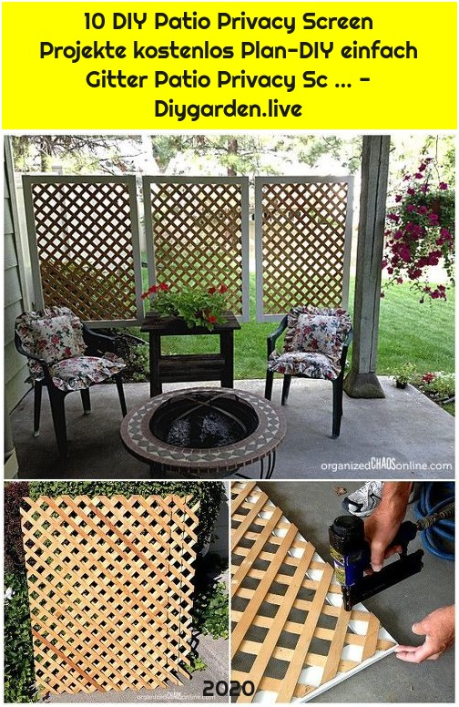 10 DIY Patio Privacy Screen Projekte kostenlos Plan-DIY einfach Gitter Patio Privacy Sc … - Diygarden.live
