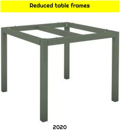 Reduced table frames