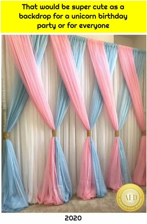 That would be super cute as a backdrop for a unicorn birthday party or for everyone