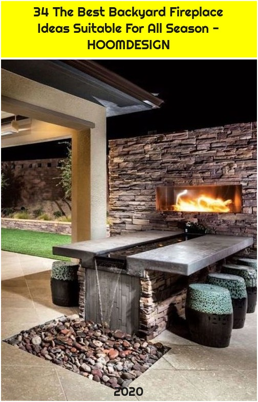 34 The Best Backyard Fireplace Ideas Suitable For All Season - HOOMDESIGN