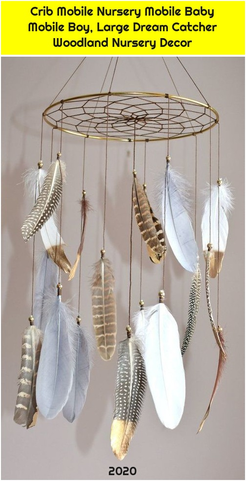 Crib Mobile Nursery Mobile Baby Mobile Boy, Large Dream Catcher Woodland Nursery Decor