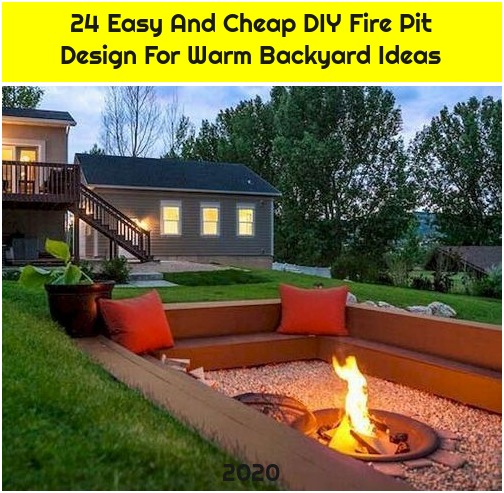 24 Easy And Cheap DIY Fire Pit Design For Warm Backyard Ideas