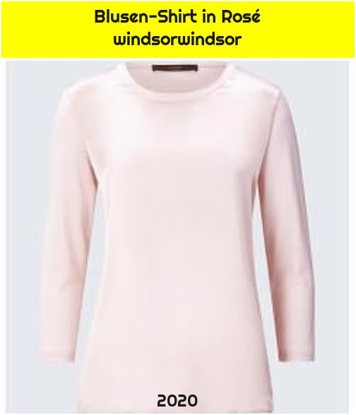 Blusen-Shirt in Rosé windsorwindsor