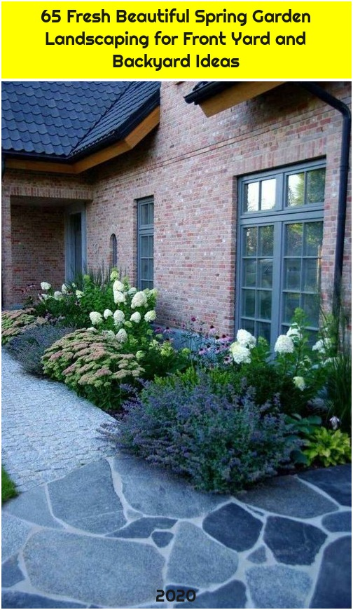 65 Fresh Beautiful Spring Garden Landscaping for Front Yard and Backyard Ideas