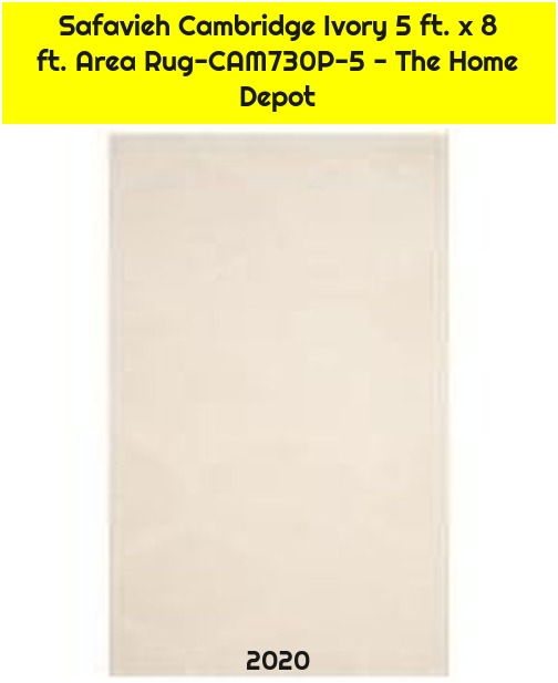 Safavieh Cambridge Ivory 5 ft. x 8 ft. Area Rug-CAM730P-5 - The Home Depot