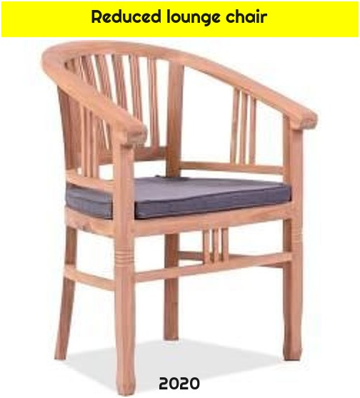 Reduced lounge chair