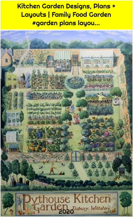 Kitchen Garden Designs, Plans + Layouts | Family Food Garden #garden plans layou...