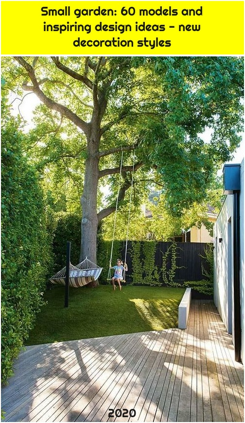 Small garden: 60 models and inspiring design ideas - new decoration styles