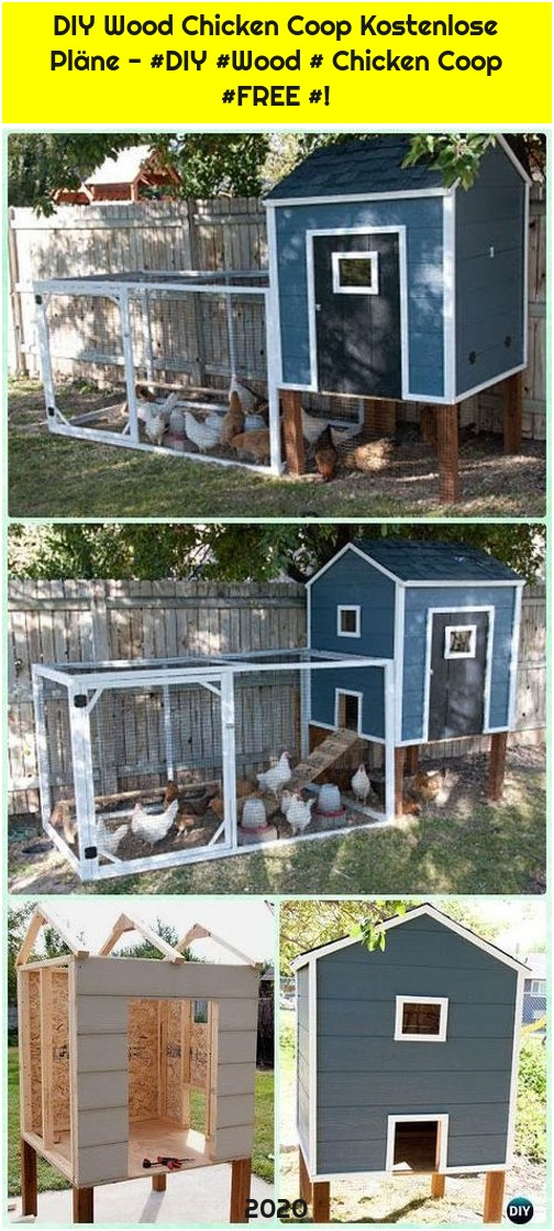 DIY Wood Chicken Coop Kostenlose Pläne - #DIY #Wood # Chicken Coop #FREE #!