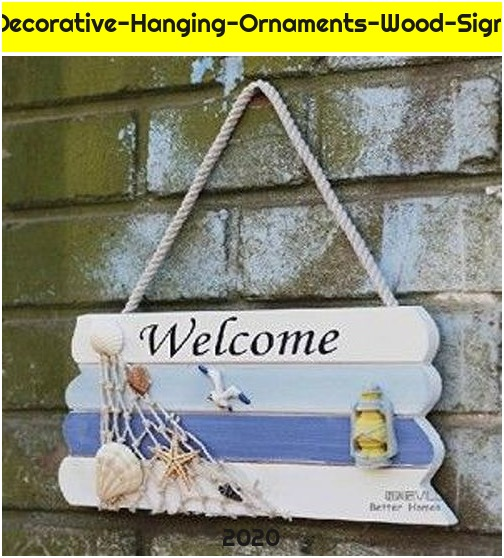 Welcome-Creative-home-Decorative-Hanging-Ornaments-Wood-Sign-Boat-Beach-Handcraf...