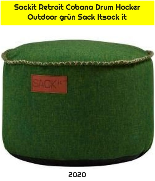 Sackit Retroit Cobana Drum Hocker Outdoor grün Sack Itsack it
