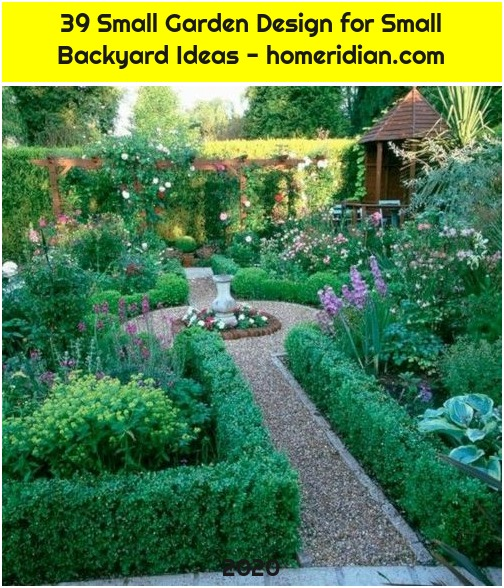 39 Small Garden Design for Small Backyard Ideas - homeridian.com