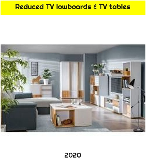 Reduced TV lowboards & TV tables
