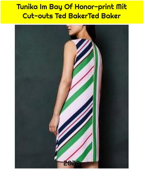 Tunika Im Bay Of Honor-print Mit Cut-outs Ted BakerTed Baker