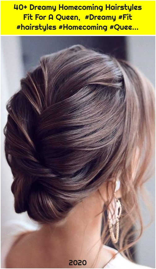 40+ Dreamy Homecoming Hairstyles Fit For A Queen, #Dreamy #Fit #hairstyles #Homecoming #Quee...
