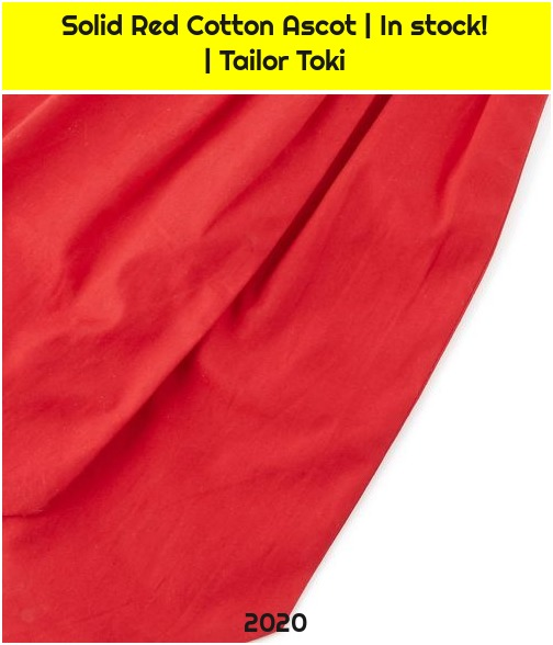 Solid Red Cotton Ascot | In stock! | Tailor Toki