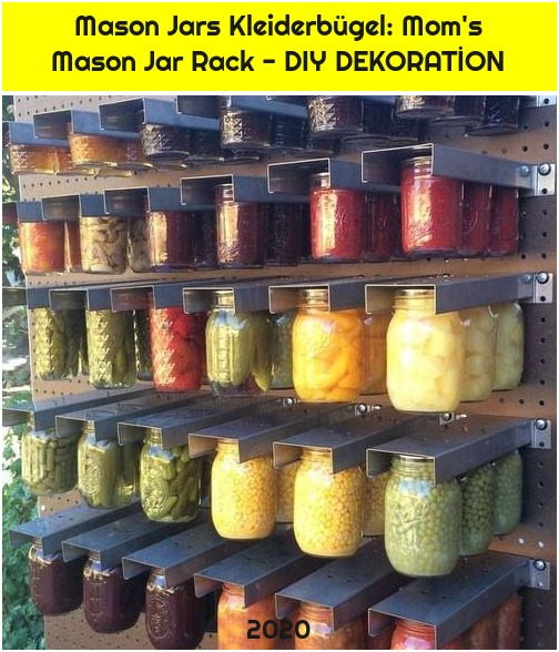 Mason Jars Kleiderbügel: Mom's Mason Jar Rack - DIY DEKORATİON