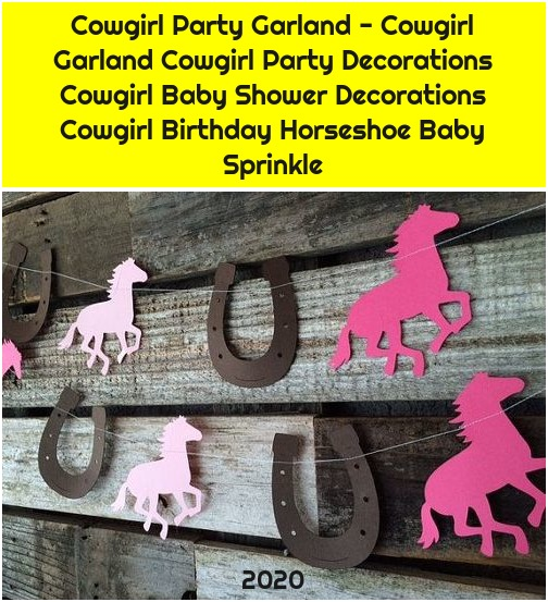Cowgirl Party Garland - Cowgirl Garland Cowgirl Party Decorations Cowgirl Baby Shower Decorations Cowgirl Birthday Horseshoe Baby Sprinkle