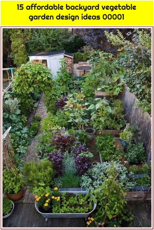 15 affordable backyard vegetable garden design ideas 00001