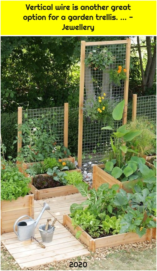 Vertical wire is another great option for a garden trellis. ... - Jewellery