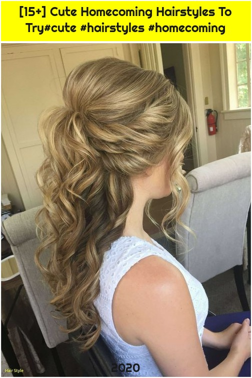 [15+] Cute Homecoming Hairstyles To Try#cute #hairstyles #homecoming