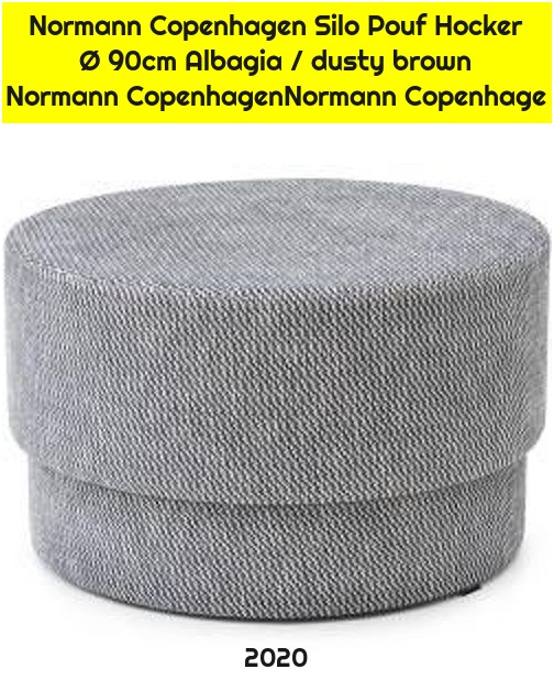 Normann Copenhagen Silo Pouf Hocker Ø 90cm Albagia / dusty brown Normann CopenhagenNormann Copenhage